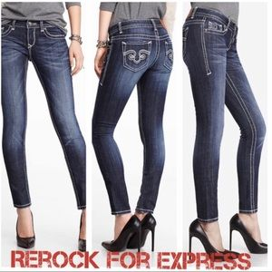 ReRock for Express Skinny Thick-Stitch Jeans 6